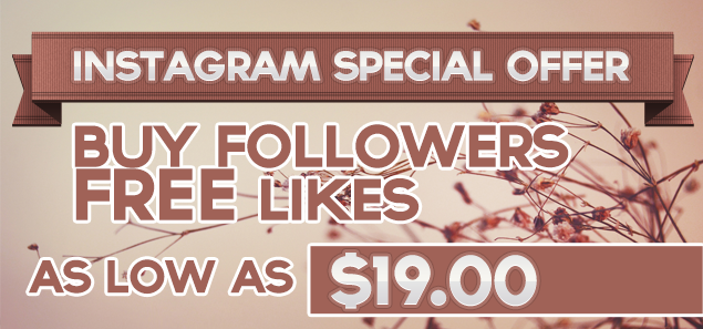 Buy Instagram Followers and get Instagram Likes for abolutely FREE!
